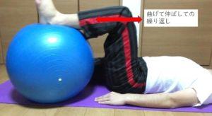 股関節の屈伸運動